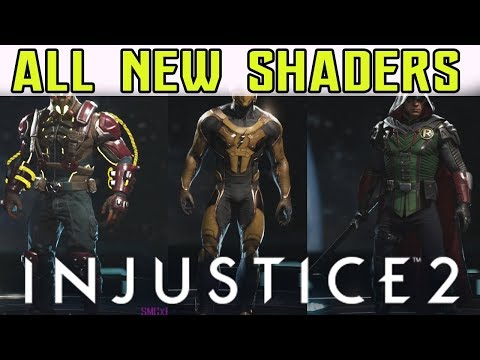 ALL NEW SHADERS w PATCH 1.08 !!! | INJUSTICE 2