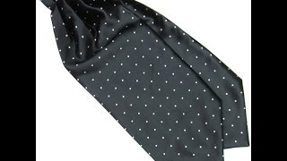 Men's Multi-Color Silk Blend Polka Dot Ascot Ties Gentlemen Silk Scarves  UNBOXING REVIEW ALIEXPRESS