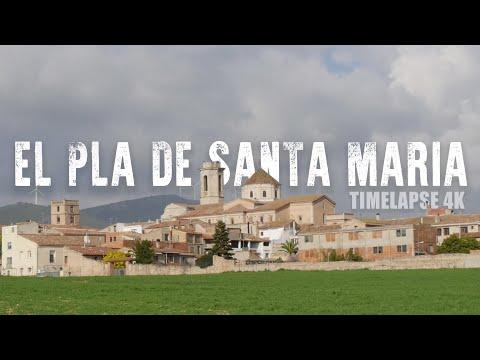 Pla de Santa Maria in a time-lapse ( 4K )