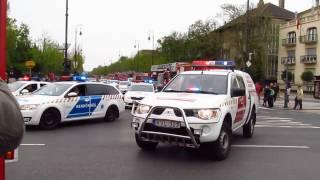 Felvonulás a VII. Rendőr - és Tűzoltónapon 2017
