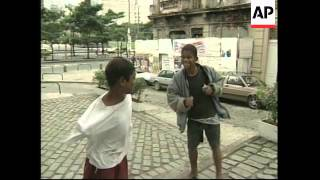 BRAZIL: RIO: STREET CHILDREN BEING ISSUED WITH ID CARDS