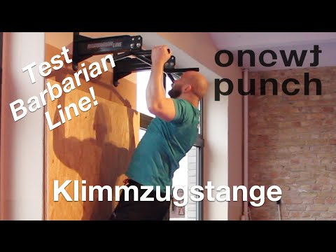 Test Best Rücken Trainer Klimmzugstange Wand  Barbarian line Deckenbefestigung One Two Punch.