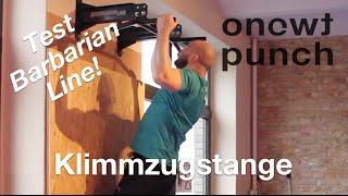 Test Best Rücken Trainer Klimmzugstange Wand  Barbarian line Deckenbefestigung One Two Punch.