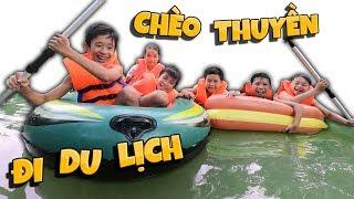 Tony | Cả Team Cưỡi Thuyền Hơi Đi Du Lịch - Travel With Boat