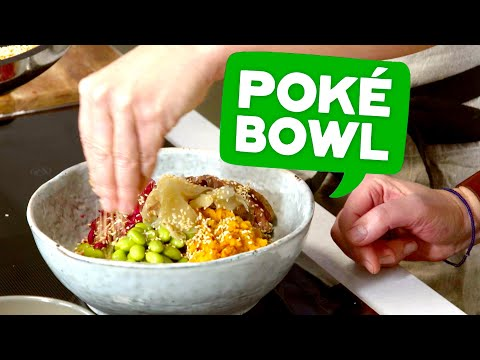 Klimatsmart Trendig Poké bowl på rester