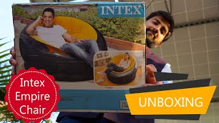 Intex Empire Chair -Inflatable Gaming Chair Unboxing | Review | In Hindi