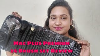 Mac Plus Premium Quality 24 Brush Set Review || Creative Yamini