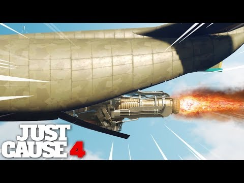 Just Cause 4 FASTEST CARGO PLANE experiment gone RIGHT!