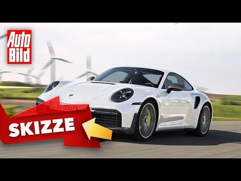 Porsche 911 Turbo S E-Hybrid (2022): Neuvorstellung - Skizze - Info