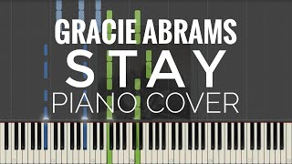 Gracie Abrams   Stay Piano Cover   Instrumental
