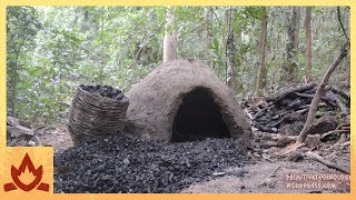 Primitive Technology: Reusable charcoal mound | Kholo.pk