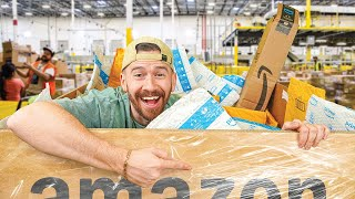 I Bought $11,250 Worth of UNOPENED Amazon Packages!! (Amazon Return Pallet Unboxing!)