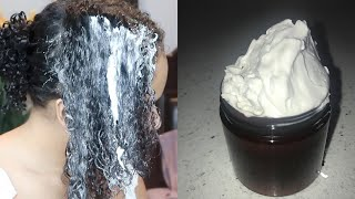 DIY HAIR GROWTH COCONUT MILK DEEP CONDITIONER FOR NATURAL HAIR  (super Easy To Make)