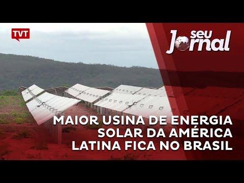Maior usina de energia solar da AL fica no Brasil
