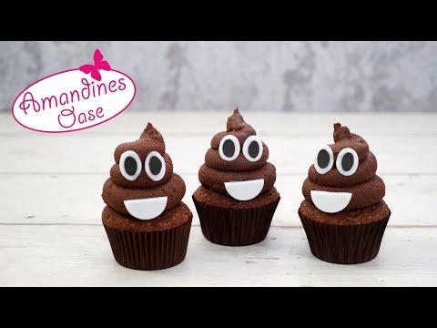 Kackhaufen Cupcakes   Poop Emoji Chocolate Cupcakes   lecker & lustig