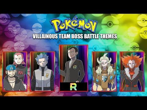 All Pokémon Villainous Team Boss Battle Themes [GEN 1-7] 2017