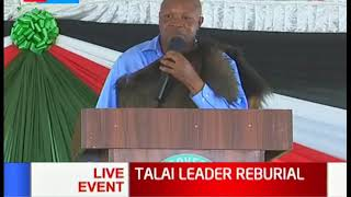 Kericho Governor Paul Chepkwony and his Deputy pay their tribute to Talai leader Arap Boisio