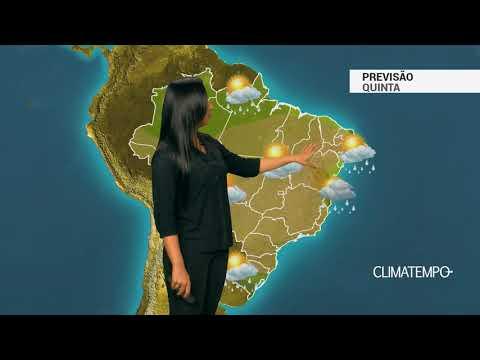 Previsão completa nesta quinta feira para todo o Brasil