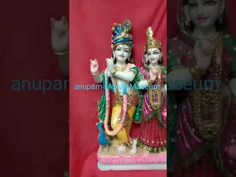 White Marble  Radha Krishna  Statues