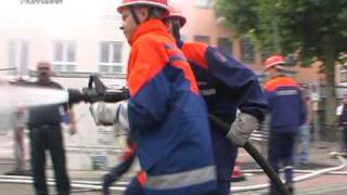 preview picture of video 'Feuerwehr Rastatt (Brandbekämpfung 2007)'