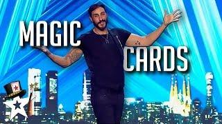 Magician Has Got Skills His His Magic Cards | Magicians Got Talent