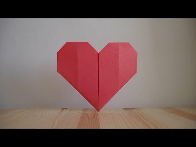 Оригами. Как сделать сердце из бумаги (видео урок)