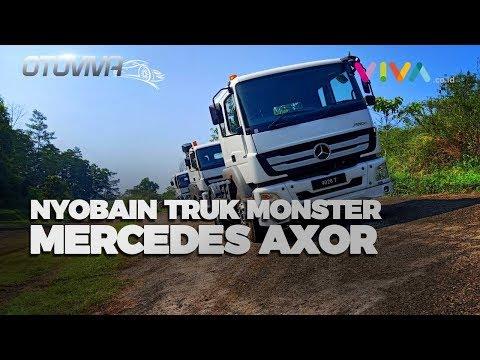Nyoba Becek-becekan Pakai Truk 'Monster' Mercedes Axor!