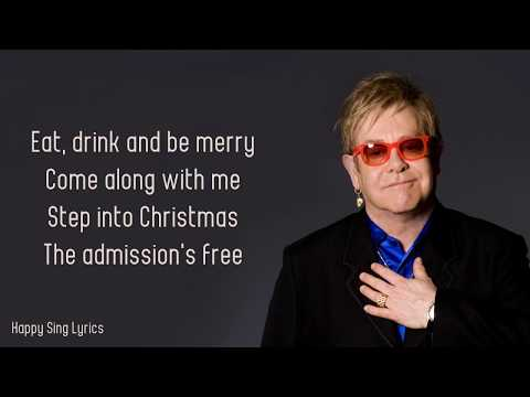 Step Into Christmas - Elton John (Lyrics)