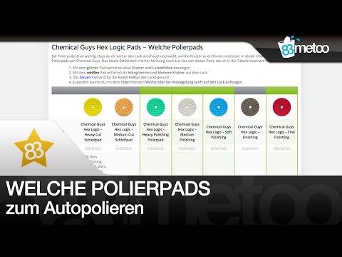 Welche Polierpads für Poliermaschine   Chemical Guys Hex Logic Pads   Polieren Anfänger Guide