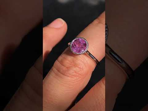 sol387b w/Pink Sapphire Center Stone!