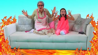 The Floor is Lava - Alice Play Fun Games with Grandma