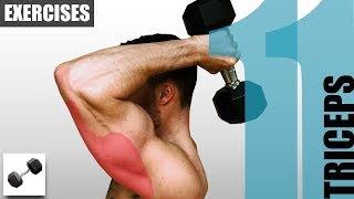 11 Tricep Exercises With Only One Dumbbell
