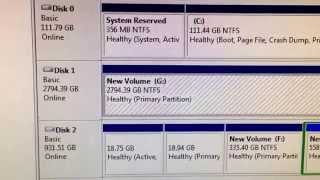 How to solve a 3TB hard drive showing up as 746gb