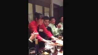 preview picture of video 'Kusumoto dinner in shanghai .during the China coat 2013'