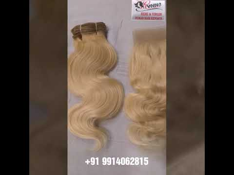 Natural Wavy Blonde Virgin Hair