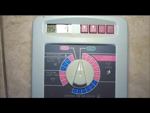 Rain Bird Esp 6tm Sprinkler Controller Erratic Mode Dial Repair 6 Tm Rainbird Pause