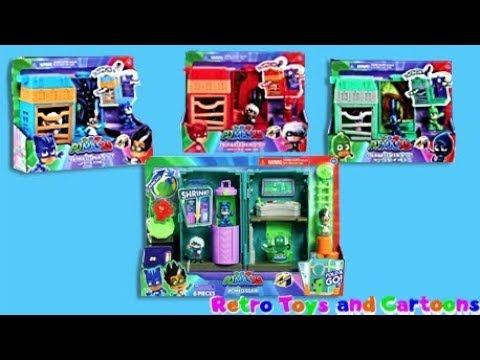 PJ Masks Night Time Micros Figures Fold & Go Playsets Commercial Retro Toys and Cartoons