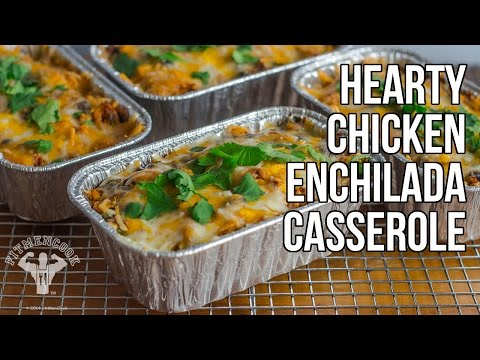 Video Healthy & Hearty Chicken Enchilada Casserole / Cazuela de Enchilada de Pollo
