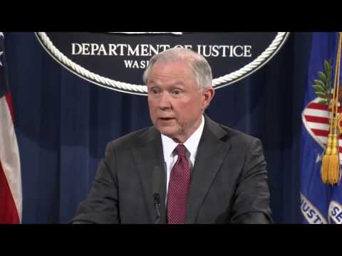 Attorney General Jeff Sessions delivers statement