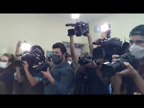 Imprensa acompanha a primeira vacinação da Covid-19 na capital