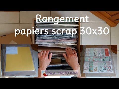 Idée rangement papiers scrap 30x30