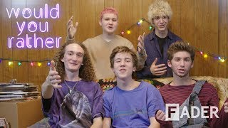 Teenage NYC Band LAUNDRY DAY Solved The MTA, Play 'Would You Rather'