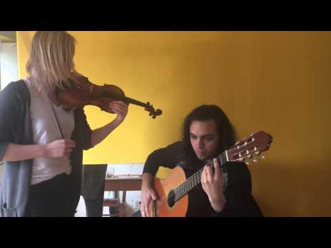 "Anna Boyd and Michaud Savage cover ""Lights On"" with violin and classical guitar."