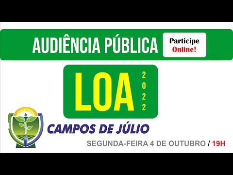 Audiência Pública para Elaboração da LOA 2022