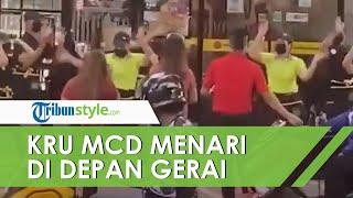 Kru McDonalds Menari di Depan Gerai karena Deman BTS