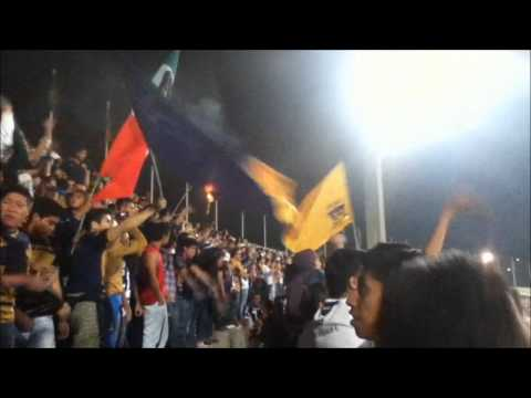 """""""la rebel calla a la monumental (ida) pumas vs america 8 de mayo 2013"""" Barra: La Rebel • Club: Pumas"""