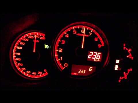 Subaru BRZ 2013 - acceleration 0-225 km/h + Vmax test