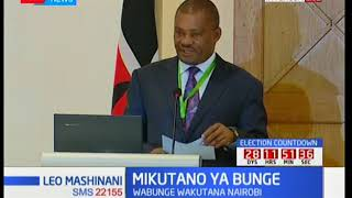 MPs begin the inducton exercise: Speaker Justin Muturi addresses MPs