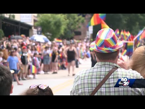 Thousands of people come out to celebrate pride on Dickson Street