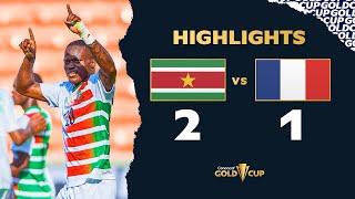 Gold Cup 2021 : résumé Guadeloupe - Suriname (1-2)
